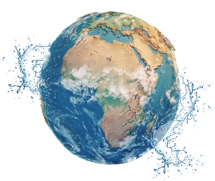 The world covered in water